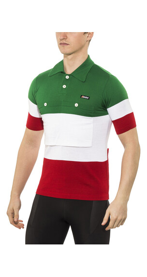 Santini Eroica Italia Jersey korte mouwen Heren groen/wit